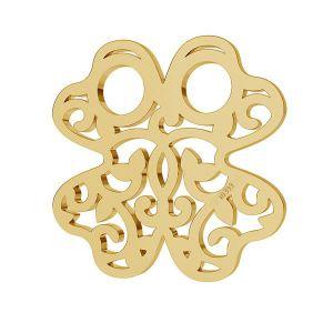 Trifoglio oro 8K pendente LKZ8K-30004 - 0,30 13x13 mm