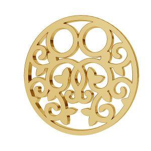 Il giro oro 8K pendente LKZ8K-30005 - 0,30 13x13 mm