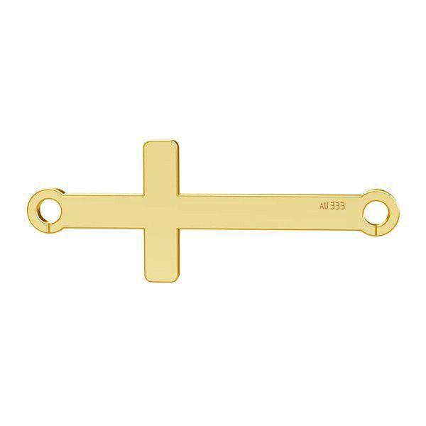 Croce orizzontale ciondolo*gold 333*LKZ8K-30020 - 0,30 9x23 mm