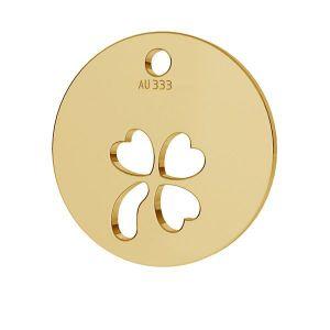 Trifoglio pendente*oro 333*LKZ8K-30009 - 0,30 9,5x9,5 mm