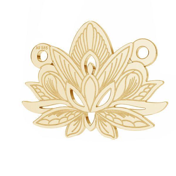Loto fiore pendente*oro 585*LKZ14K-50050 - 0,30 12,3x15,8 mm