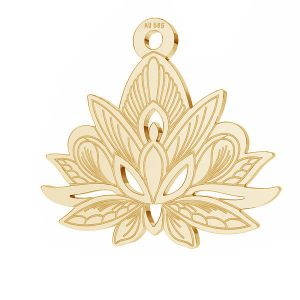 Loto fiore pendente*oro 585*LKZ14K-50049 - 0,30 14,4x15,8 mm