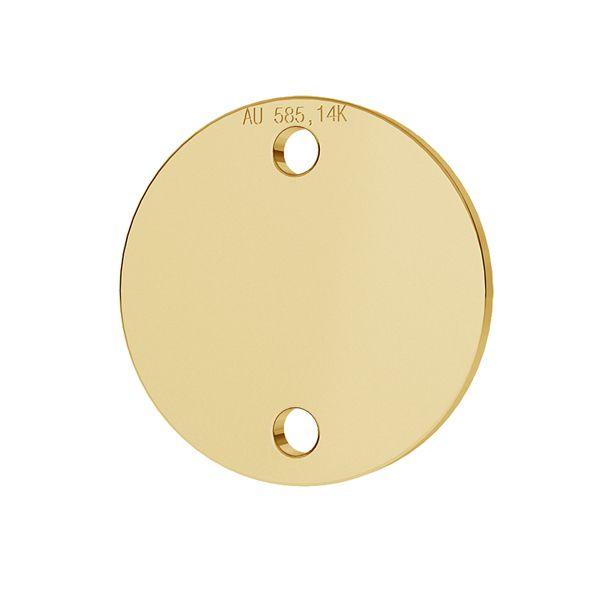 Tag rotonda pendente oro 14K LKZ-00094 - 0,30 mm