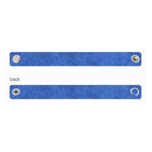 Alcantara base per bracciali - blu, ALC 02 1,2x20 cm