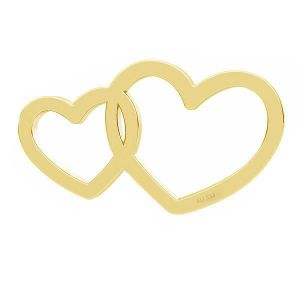 Doppio cuore pendente*oro 333*LKZ8K-30030 - 0,30 6x10,5 mm