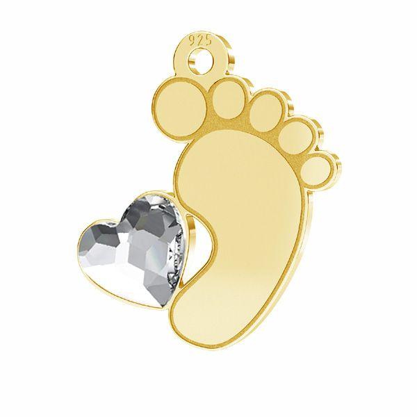 Piedi piccoli pendente*argento 925*LKM-2644 - 0,50 13x14,7 mm