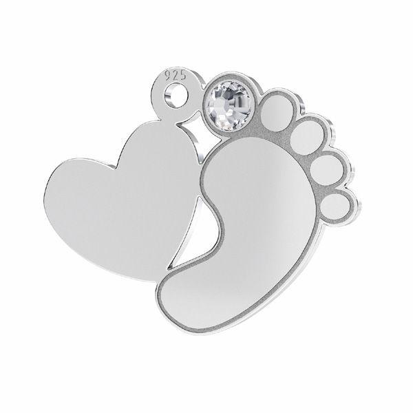 Piedi piccoli pendente*argento 925*LKM-2646 - 0,50 13,2x16,5 mm