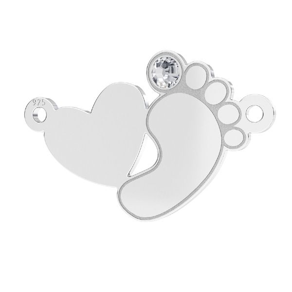 Piedi piccoli pendente*argento 925*LKM-2647 - 0,50 12,8x20,1 mm