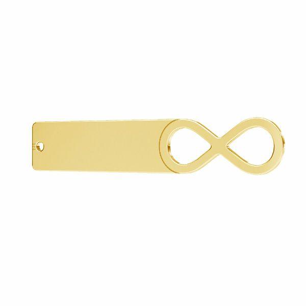 Rettangolare pendente - segno di infinito*argento 925*LKM-2630 - 0,50