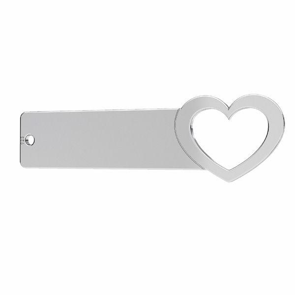 Rettangolare pendente - cuore*argento 925*LKM-2637 - 0,50