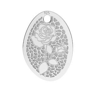 Papaveri pendente argento, LKM-2678 - 0,50 10,9x15 mm