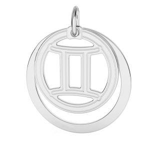 Gemelli pendente zodiaco*argento 925*LKM-2585 - 0,50 ver.2 18x22 mm