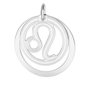 Leone pendente zodiaco*argento 925*LKM-2587 - 0,50 ver.2 18x22 mm
