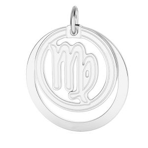 Vergine pendente zodiaco*argento 925*LKM-2590 - 0,50 ver.2 18x22 mm