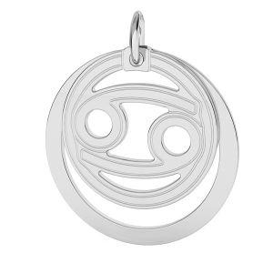 Cancro pendente zodiaco*argento 925*LKM-2589 - 0,50 ver.2 18x22 mm
