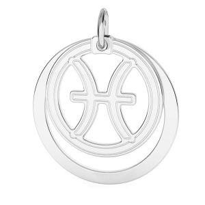 Pesci pendente zodiaco*argento 925*LKM-2591 - 0,50 ver.2 18x22 mm