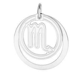 Scorpione pendente zodiaco*argento 925*LKM-2592 - 0,50 ver.2 18x22 mm