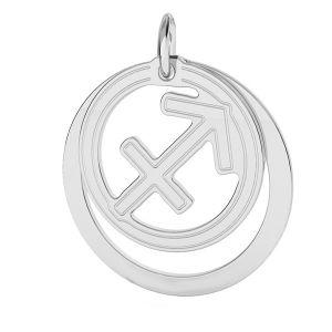 Sagittario pendente zodiaco*argento 925*LKM-2593 - 0,50 ver.2 18x22 mm