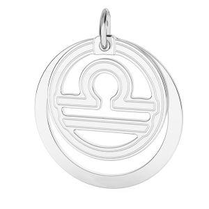 Libra pendente zodiaco*argento 925*LKM-2594 - 0,50 ver.2 18x22 mm