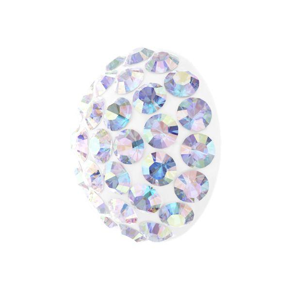 86601 MM8,0 01 001AB - Cabochon Pave Crystal Ab