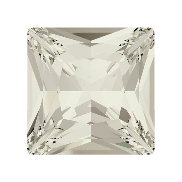 4447 MM 12,0 CRYSTAL SILVSHADE F, Princess Square Fancy Stone