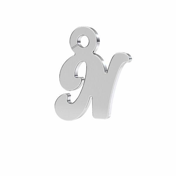 Lettera R ciondolo*argento 925*LK-0076 - 0,50 7x9,5 mm