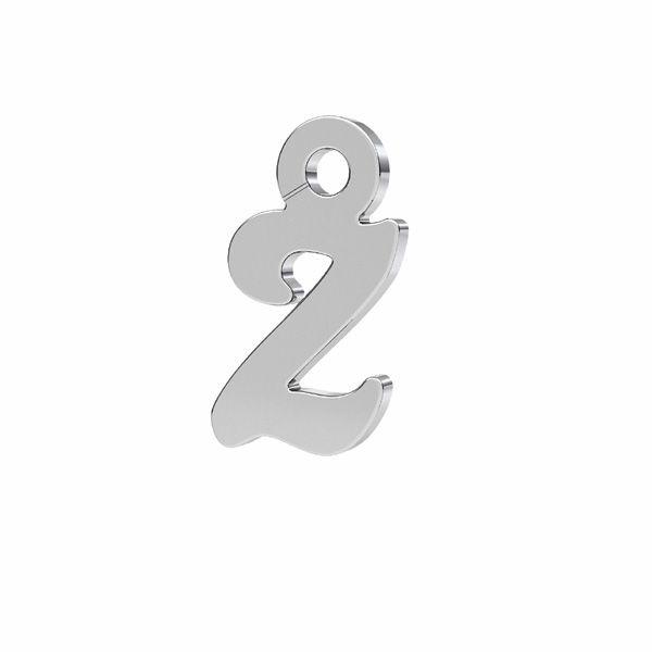 Lettera Z ciondolo*argento 925*LK-0076 - 0,50 5x9,5 mm