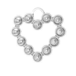Croce pendente Swarovski pearls, ODL-00789 24x24,5 mm (5818 MM 4)