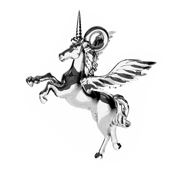 Unicorno pendente, ODL-00778 15,5x16,2 mm