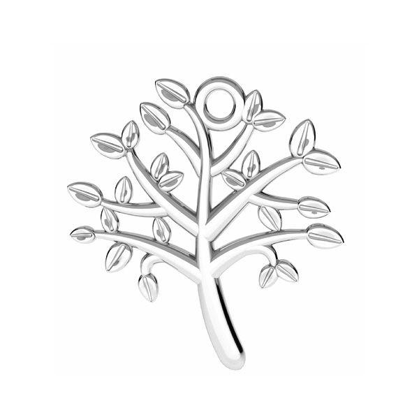 Albero della vita pendente argento 925, ODL-00764 21,5x21,5 mm