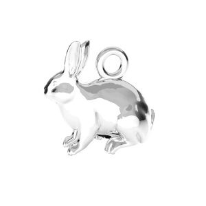 Coniglio pendente*argento 925*ODL-00776 11,1x11,2 mm