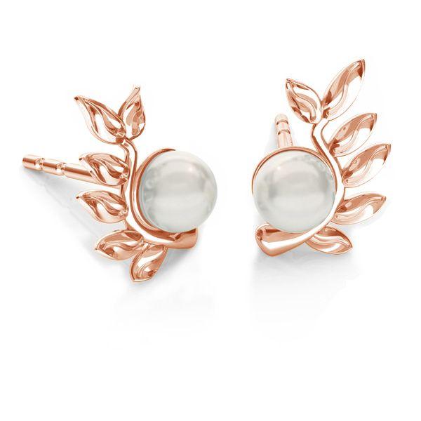 Le foglie orecchini Swarovski pearls, ODL-00791 L+P 6,7x10,5 mm (5818 MM 4)
