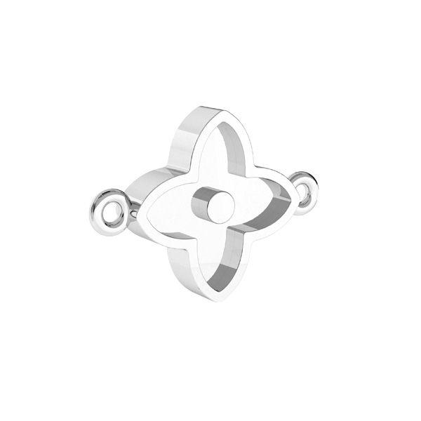 Pendente fiore per resina*argento 925*CON 2 ODL-00779 10,5x14,1 mm