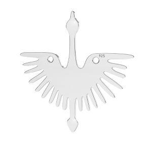 Uccello pendente argento, LKM-2824 - 0,50 25x25 mm