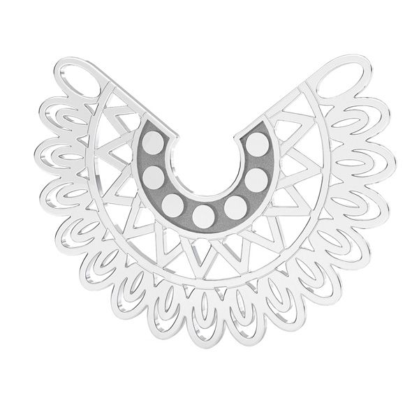 Uccello pendente argento, LKM-2837 - 0,50 19x25 mm