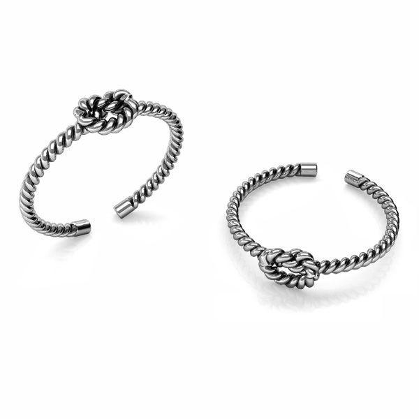 Corda anello argento 925, U-RING ODL-00817 5x20 mm