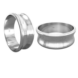 Anillo base in resina*argento 925*RING 011 7 mm - S (10,11,12)