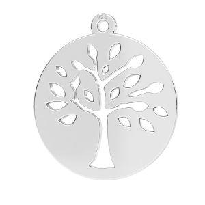 Alberox pendente argento, LKM-2626 - 0,50 16x17,5 mm