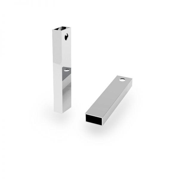 Ciondolo Tubo rettangolare*argento 925*RURK-004 6,1x25 mm