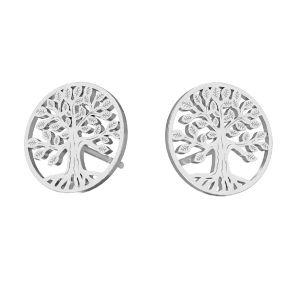 Albero orecchini argento 925, KLS LKM-2938 - 0,50 11x11 mm