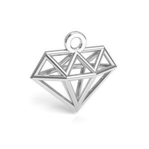 Diamante origami pendente argento 925, CON 1 E-PENDANT 653 11,9x12,6 mm