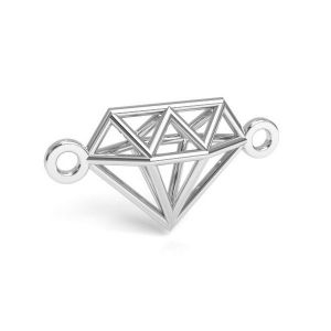 Diamante origami pendente argento 925, CON 1 E-PENDANT 654 9,55x17,6 mm