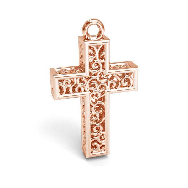 Croce pendente argento 925, CON 1 E-PENDANT 657 11,8x19,8 mm