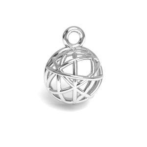 Emisfero pendente argento 925, CON 1 E-PENDANT 644 8,3x11,25 mm