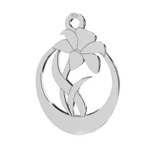 Fiore pendente, argento 925, LKM-2208 - 0,50 14,1x20 mm