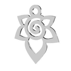 Fiore pendente, argento 925, LKM-2217 - 0,50 12,6x15,6 mm