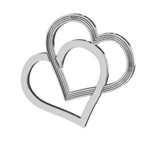 Cuore pendente ,argento 925, LK-2190 - 05 18x21 mm
