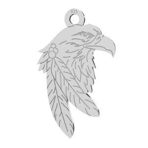 Aquila ciondolo, argento 925, LKM-2209 - 0,50 13,1x21,9 mm