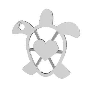 Tartaruga ciondolo, argento 925, LKM-2192 - 0,50 16,3x16,3 mm