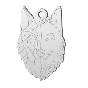 Lupo pendente, argento 925, LKM-2223 - 0,50 14x20 mm